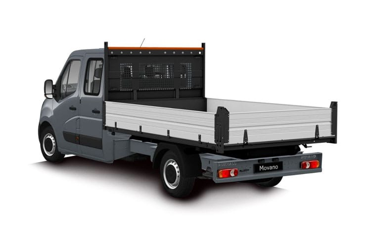Vauxhall Movano R35 L2 2.3 CDTi BiTurbo RWD 130PS  Dropside Double Cab Manual back view