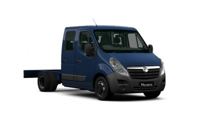 Vauxhall Movano R35DRW L3 2.3 CDTi BiTurbo DRW 130PS  Chassis Double Cab Manual front view