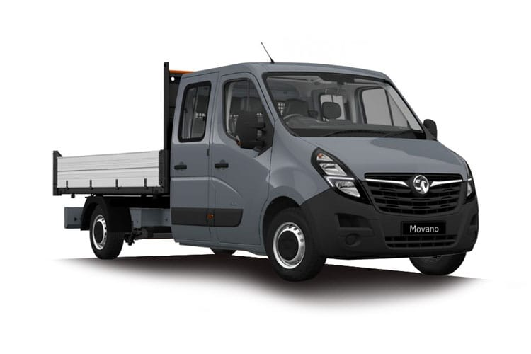 Vauxhall Movano R35 L2 2.3 CDTi BiTurbo RWD 130PS  Dropside Double Cab Manual front view
