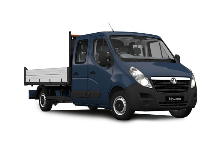 Vauxhall Movano HGV R45DRW L4 2.3 CDTi BiTurbo DRW 165PS  Dropside Double Cab Manual [Start Stop] front view